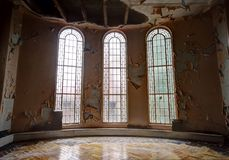 övergiven synagoga Arkivbilder
