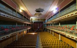 Övergiven teater Royaltyfria Foton