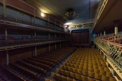 Övergiven teater Arkivfoto