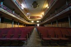 Övergiven teater Arkivfoton