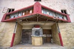 Övergiven teaterbyggnad i Texas Royaltyfri Fotografi
