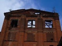 övergiven tegelstenbyggnadsfabrik Royaltyfria Foton