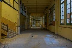 Övergiven tobakfabrik i Tarragona, Spanien Fotografering för Bildbyråer