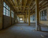 Övergiven tobakfabrik i Tarragona, Spanien Royaltyfri Bild