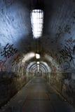 Övergiven tunnel Arkivbild