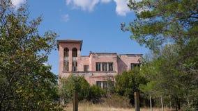 övergiven villa royaltyfri fotografi