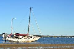 Övergiven yacht Tin Can Bay Queensland Australia Royaltyfri Foto