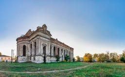 Övergiven Zelts katolsk kyrka, Ukraina royaltyfri fotografi