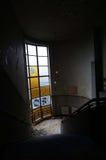 övergivet byggande fönster Royaltyfri Bild