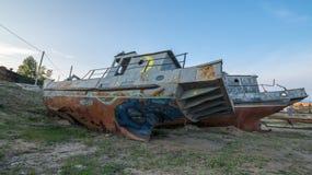 övergivet fartyg Royaltyfria Bilder