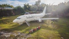 övergivet flygplan arkivbilder