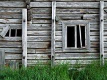 övergivet gammalt trä för hus Fotografering för Bildbyråer
