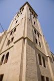 övergivet historiskt torn för klockakyrka Royaltyfria Foton