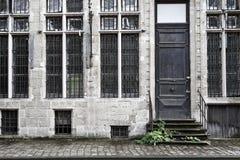 Övergivet hus i ghent Royaltyfria Foton