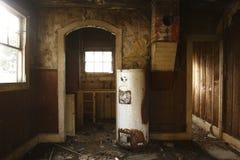 övergivet kök Arkivbild