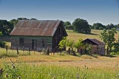 övergivet lantgårdhus Royaltyfria Bilder
