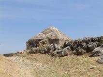 övergivet slott arkivfoton
