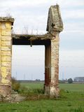 övergivet slott Arkivfoto