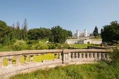 övergivet slott Arkivbilder