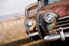 övergivna bilar Arkivbilder