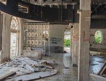 Övergivna byggnader - Kupari bild 8 Arkivbild