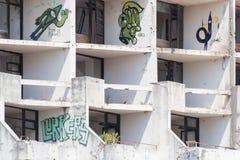 Övergivna byggnader - Kupari bild 9 Arkivfoto