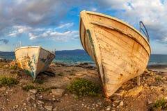 övergivna fartyg royaltyfri fotografi