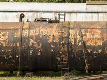 Övergivna gamla drevdetaljer, maximal stångarvjärnväg, Matlock, Derbyshire, UK Arkivfoto