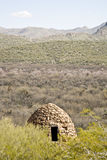 övergivna industriella ugnar s för arizona öken Royaltyfri Foto