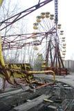 Övergivna munterheter Pripyat, Chernobyl Fotografering för Bildbyråer