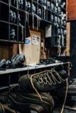 Övergivna skor - den övergav Nevele semesterorten - Catskill berg, New York Royaltyfria Bilder