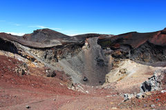 Överkant av berget Fuji Fujisan arkivfoto