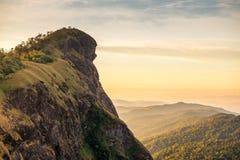 Överkant av berget i Monjong, Chiang Mai, Thailand Arkivfoto