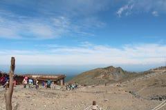 Överkant av Cheung Bai Mountain Arkivfoton