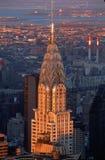 Överkant av Chrysler byggnad, NY, NY Royaltyfri Bild
