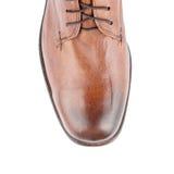 Överkant av den manliga skon Arkivfoton