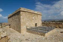 Överkant av den Paphos slotten Royaltyfria Bilder