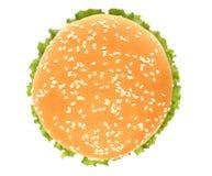 Överkant av den stora hamburgaren Royaltyfria Bilder