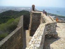 Överkant av fortet Solano arkivbild