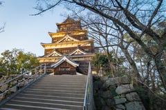 Överkant av Hiroshima träslotten Royaltyfri Bild