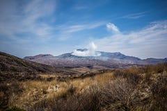Överkant av Mount Aso Arkivbild
