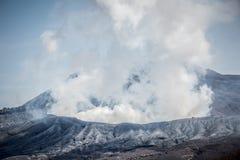 Överkant av Mount Aso Arkivbilder