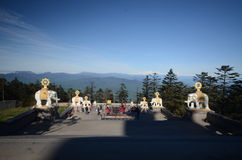 Överkant av Mount Emei Royaltyfri Fotografi