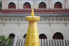 Överkant av pagoden Arkivfoton
