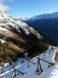Överkant av schweiziska fjällängar Royaltyfria Bilder