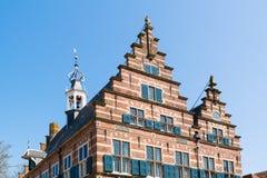 Överkant av stadshuset Naarden, Nederländerna royaltyfri foto