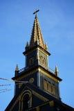 Överkant av träkyrkan Royaltyfri Foto