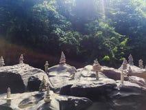 Överkant av vattenfallet - Bali Royaltyfria Bilder