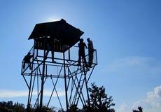 Överkant av watchtornet. Royaltyfri Foto