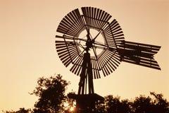 Överkant av windmillen Arkivbild